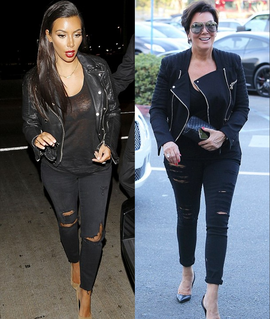Kim Kardashian et sa mère Kris Jenner ont opté pour un look très rock