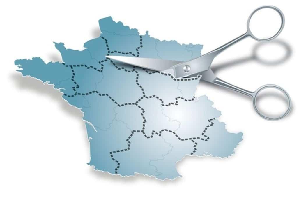 Carte de France redécoupée
