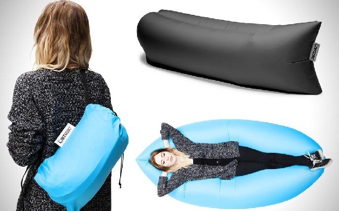 le lamzac hangout canap gonflable l ger 100 transportable et sans effort c mon web. Black Bedroom Furniture Sets. Home Design Ideas