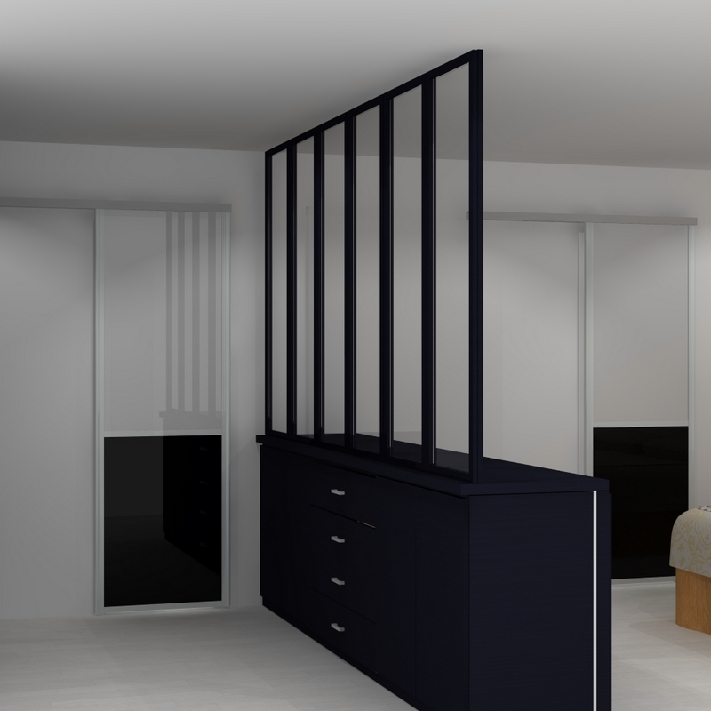 une id e d co la s paration de pi ce de style atelier c mon web. Black Bedroom Furniture Sets. Home Design Ideas
