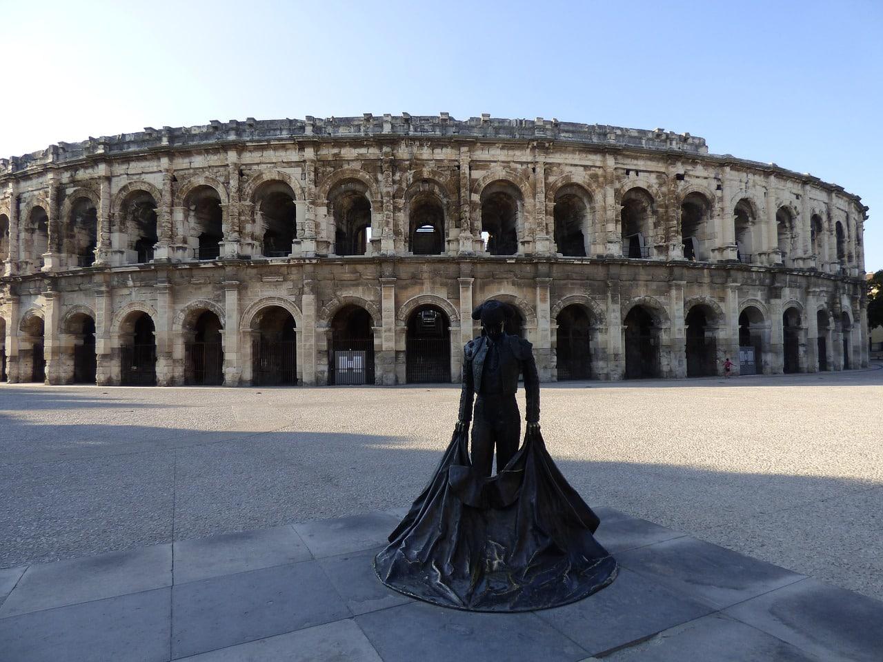 L'amphithéâtre à visiter