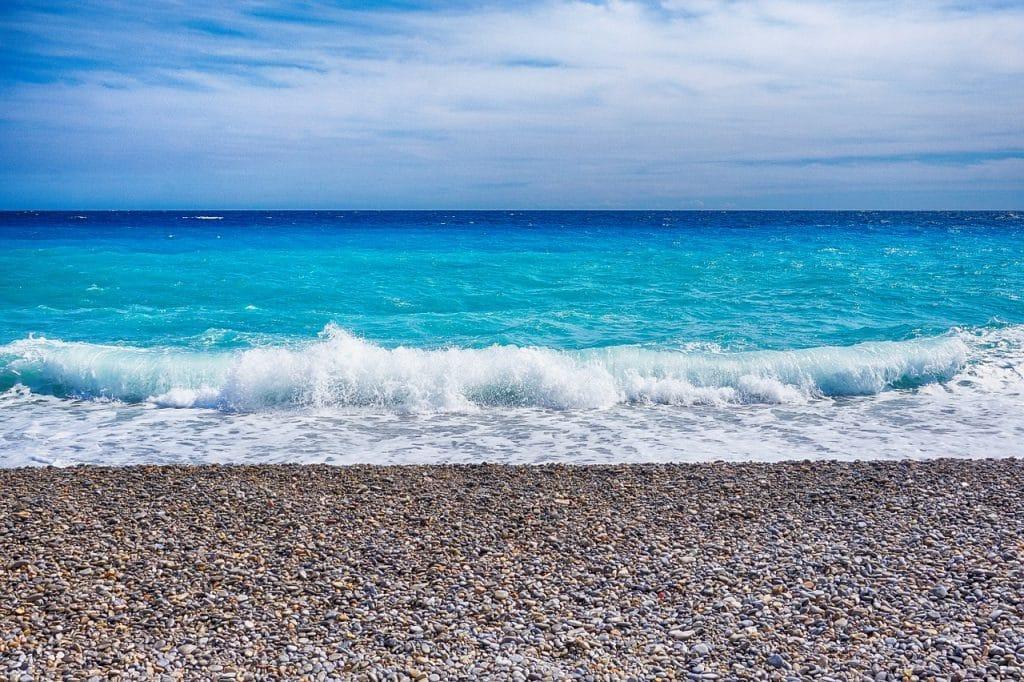 la mer à Nice