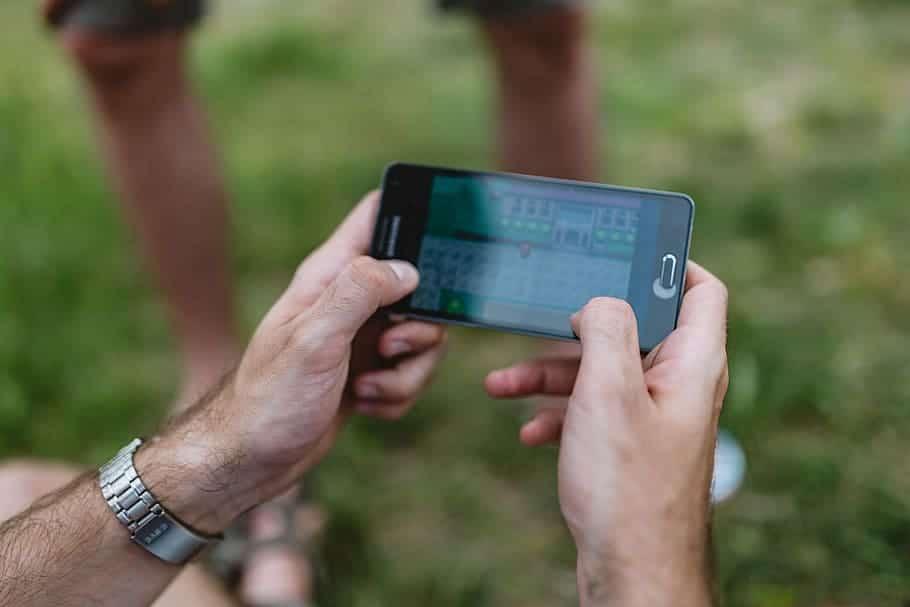 jeu sur mobile